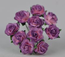 1 cm LILAC LIGHT PINK Mulberry Paper Roses